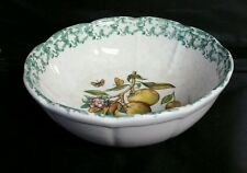 Vintage HIMARK Spongeware Apple Themed Large Scalloped Serving Bowl Italy