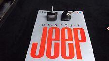 Jeep Cj windshiel knobs, black set,