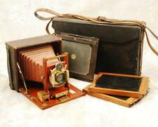 SEROCO 4x5 FOLDING PLATE CAMERA MODEL B WOLLENSAK SHUTTER C 1901 COMPLETE SET