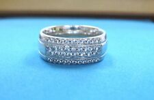 GORGEOUS Solid 18k White Gold Diana Classic Diamond Wedding Band Ring sz 8 LQQK