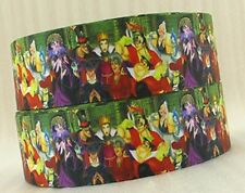 "BY The Yard 1 1/2"" Disney Villains Grosgrain Ribbon Hair Bows Lanyards Lisa"