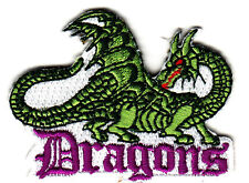 """""""DRAGONS""""  PATCH - Iron On Embroidered  Patch/Animals, Fantasy, Words, History"""