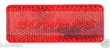 REAR RED STICK ON ADHESIVE RECTANGULAR REFLECTOR TRUCK CAR VAN MOTORCYCLE BIKE