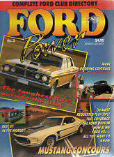 FORD POWER MAGAZINE NO 3 - FORD ESCORT - MUSTANG - FALCON XD - 1992