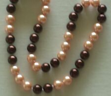 """10MM Multicolor #8 AAA South Sea Shell Pearl Necklace 18"""" NEW (silk gift bag)"""