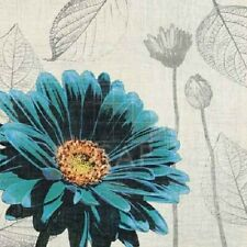 Touch Of Color II Tandi Venter bright blue floral 12x12 art print flower poster