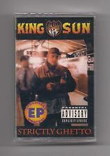 KING SUN - Strictly ghetto SEALED Cassette rare Rap Cold Chillin'