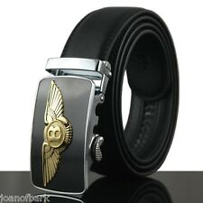 BENTLEY REAL LEATHER BELT Automatic Buckle , GOLD BEST QUALITY