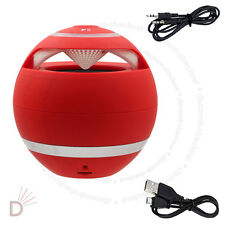 New Red Mini Speaker Bluetooth Wireless Hand-Free For PC Laptop Mobile UKDC