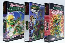 Teenage Mutant Ninja Turtles TMNT 1-3 NES Custom Game Cases - NO GAMES INCLUDED