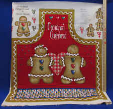 Apron Panel Craft Project By Diane Marcum Titled Grandma's Gingerbread