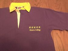 ELMIRA COLLEGE SOARING EAGLES SEWN SHORT SLEEVE  BARBARIAN RUGBY JERSEY-MED NWOT