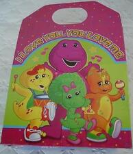 Barney Party Favor Bag Boxes Supplies Lunch Treat Loots GABLE x4 Bags Baby Bop