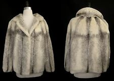 Gorgeous Sheared WHITE Cream Cross MINK FUR Coat Jacket ~ Bridal ~ Luxury Gift