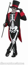 MR. BONE JANGLES HALLOWEEN COSTUME SKELETON ADULT SIZE STD HAT,JACKET,JUMPSUIT