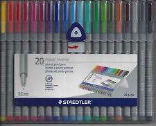 STAEDTLER 20 Piece TRIPLUS FINELINER Water Based Ink Marker Marking Pen Set