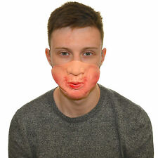 Half Face Puffy Cheeks Funny Fancy Dress Latex Mask For Kids & Adults Halloween
