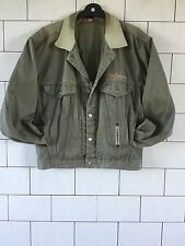 GREEN FESTIVAL URBAN VINTAGE RETRO DIESEL BIKER TRUCKER DENIM JACKET SMALL #1