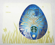 STARBUCKS 2016 BLUE EASTER EGG DIE CUT MINI GIFT CARD