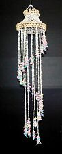 """39"""" MULTI COLORED SEA SHELL HAND MADE CHANDELIER DECOR BEACH WIND CHIME"""