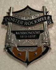 "PORTER ROCKWELL DESTROYING ANGEL OF MORMONDOM 2"" Badge Pin"