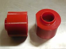 "JEEP XJ TJ ZJ  LIFT KIT 3"" RED  POLYURETHANE COIL SPRING SPACERS 4WD SET OF 2"