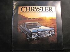 1973 CHRYSLER NEW YORKER TOWN & COUNTRY NEWPORT CUSTOM ORIGINAL SALES BROCHURE