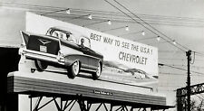 """1957 Chevrolet Billboard """"See The USA"""" 11 x 17 Photograph"""