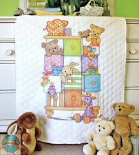 Cross Stitch Kit ~ Dimensions Animals & Drawers Baby Crib QUILT #73537
