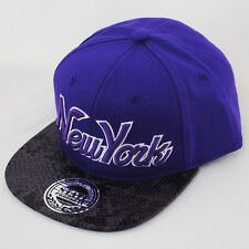 State Property NY New York Snap Back Cap Snakeskin Flat Peak Snapback Hat