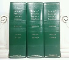 1966~Law of Federal Income Taxation~3 Old Green LAW BOOKS~Vintage Decorative Set