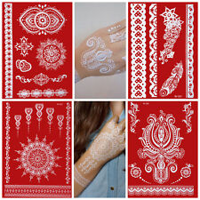 Temporary TATTOOS TATUAGGIO BIANCO Set White Lace mano schiena MANO Henna caro _ weiss _ 4