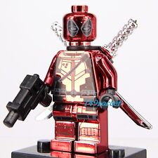 Deadpool Marvel X-men Xmen Superheroes Custom Lego Minifigures Fit Building Toy