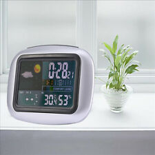 Wireless Weather Station Colorful Temperature Clock Thermometer Hygrometer Meter