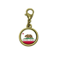 California Republic State Flag Cute Bracelet Pendant Charm