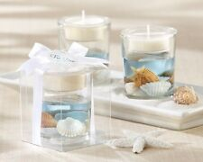 24 Seashell Gel Beach Candles Wedding Favors Decorations Lot Q31603