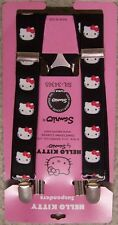 "Suspenders Children & Junior 1""x36"" FULLY Elastic Hello Kitty black NEW Made USA"