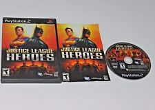+++ JUSTICE LEAGUE HEROES PlayStation 2 PS2 Game COMPLETE - TESTED +++