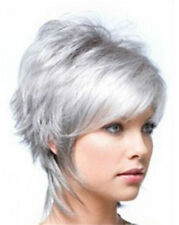 Hot Women Heat Resistant Silver Gray Short Bob Cosplay Straight Hair Wig Wigs