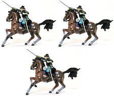 Forces of Valor Three Union Cavalrymen - painted toy soldiers 1:32 scale