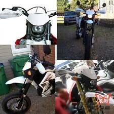 White Universal dirt bike Polypropylene H4 12V Front headlight New