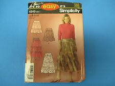 Vintage Sewing Pattern Simplicity 4549 Missus Skirts in Two Lenths S754