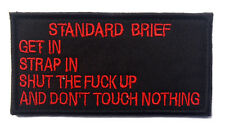 standard brief ARMY MORALE BADGE TACTICAL MILITARY HOOK & LOOP PATCH  sh   706