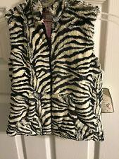 Kids Faux Fur Zebra Vest by Widgeon