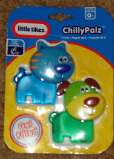 Little Tikes Chilly Palz Cute blue Kitty Cat and Puppy Dog gel teethers boys