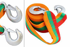 Tow Towing Pull Strap Rope Havy Duty Hooks Recovery 5 tonnes 5t 4m Car Van SUV