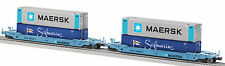 LIONEL 6-27702 MAERSK HUSKY STACK TRAIN INTERMODAL CONTAINER O SCALE CARS 2-PACK