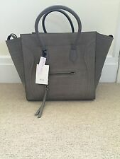 RARE NWT Celine Grey Suede Croc Embossed Large Phantom