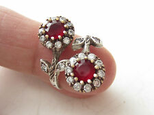 925 Sterling Silver Turkish Ruby Stone Hurrem Sultan Ring Sz 7 Adjustable
