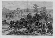 RUSSIA AND TURKEY WAR HISTORY TURK SOLDIERS HORSES HAULING GUNS UP TO THE FRONT